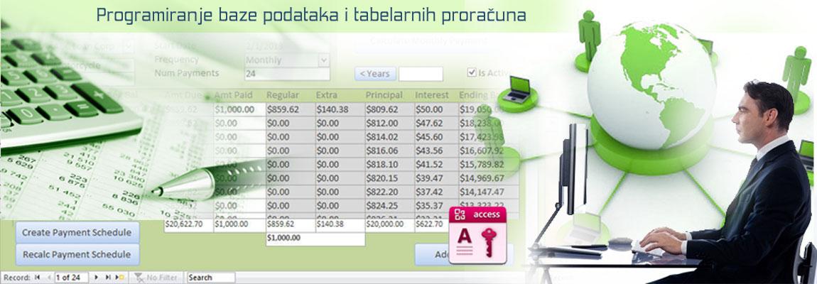 Izrada malih baza podataka u accessu - Leskovac - Media Centar. Baze za potrebe knjigovodstva i evidencije podataka u mdb formatu (access) za preduzetnike, trgovine, proizvodnju itd .