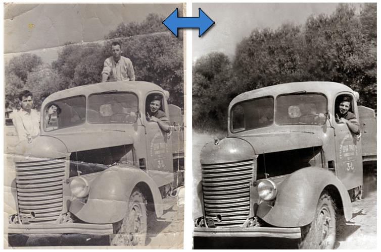 Obrada fotografija - Media Centar Leskovac, restauracija i popravka oštećenih fotografija, šminkanje i promena pozadine fotografije, korekcije, photo repair