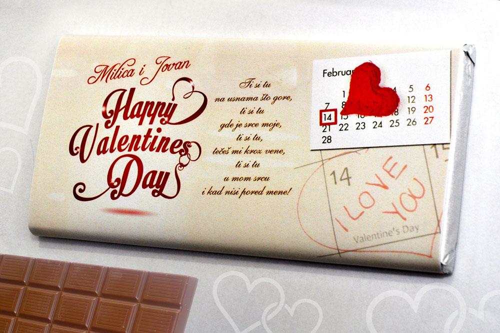 Personalizovane čokolade kao pozivnice i čestitke učiniće vašu poruku ljubavi još slađom. Budite originalni. Iznenadite voljenu osobu. Media Centar Leskovac